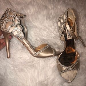 Badgley Mischka Jeweled Heels